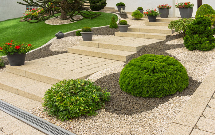 Gartenanlagen, Pflasterarbeiten